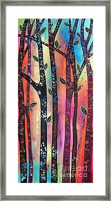 Colorful Forest Framed Print by Karla Gerard