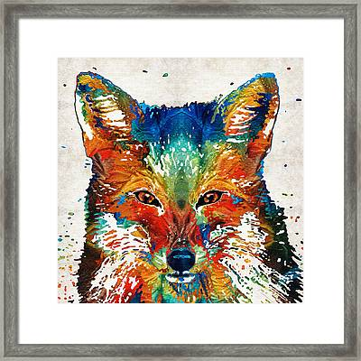 Colorful Fox Art - Foxi - By Sharon Cummings Framed Print by Sharon Cummings