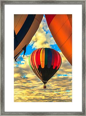 Colorful Framed Hot Air Balloon Framed Print