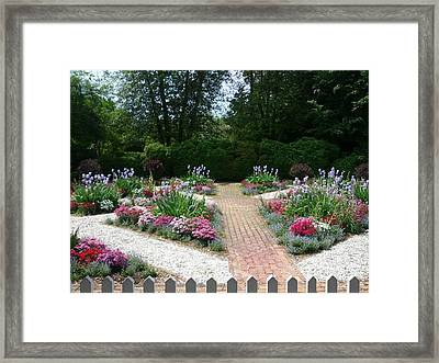 Colorful Garden Framed Print by Shesh Tantry