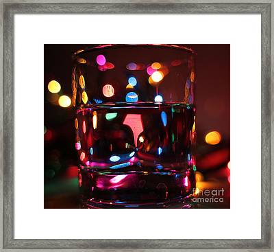 Colorful Glass Bokeh Framed Print