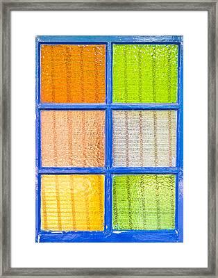 Colorful Glass Framed Print