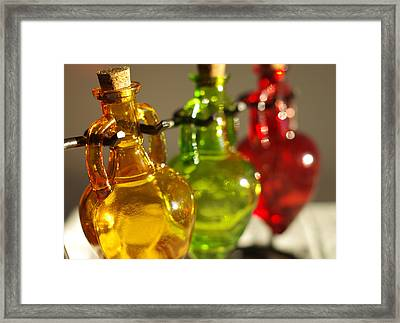 Colorful Glass Framed Print