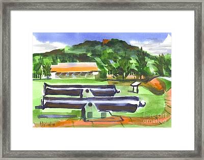 Colorful Green Fort Davidson Framed Print