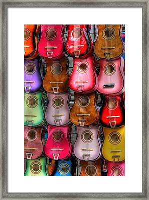Colorful Guitars Framed Print by Tony  Colvin