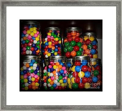 Colorful Gumballs Framed Print by Paul Ward
