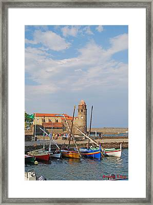 Colorful Harbour Framed Print