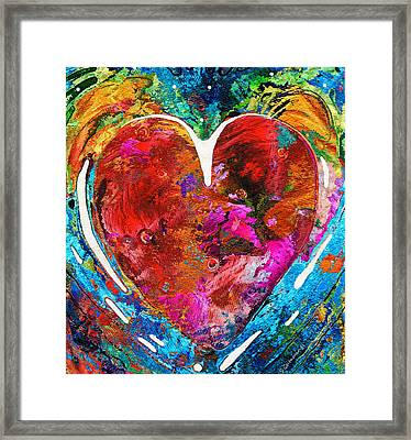 Colorful Heart Art - Everlasting - By Sharon Cummings Framed Print by Sharon Cummings
