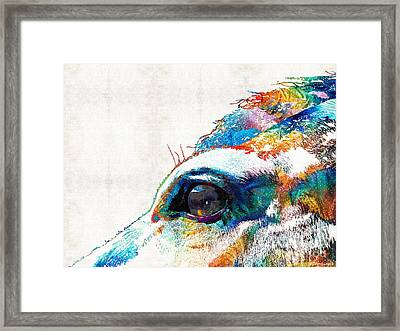 Colorful Horse Art - A Gentle Sol - Sharon Cummings Framed Print