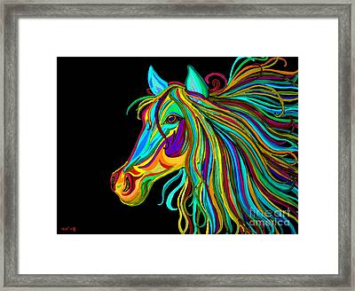 Colorful Horse Head 2 Framed Print