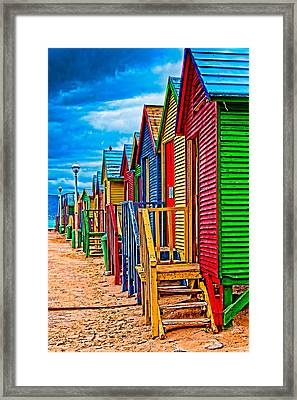 Colorful Houses At St James Framed Print by Cliff C Morris Jr