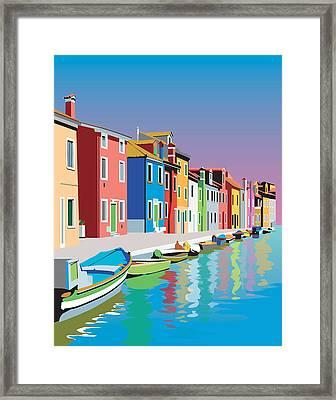 Colorful Houses Framed Print by Robert Korhonen