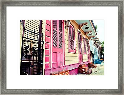 Framed Print featuring the photograph Colorful Houses by Sylvia Cook