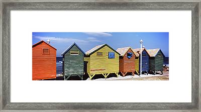 Colorful Huts On The Beach, St. James Framed Print