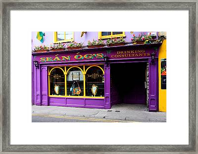 Colorful Irish Pub Framed Print