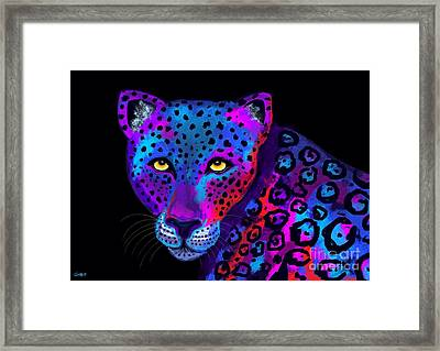 Colorful Jaguar Framed Print