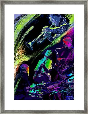 Colorful Jazz Framed Print