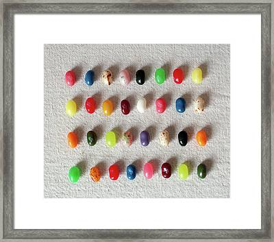 Colorful Jelly Framed Print by W-anshu