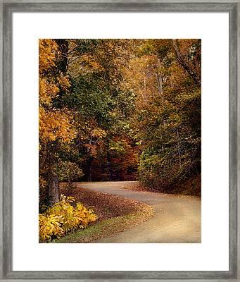Colorful Journey - Autumn Scene Framed Print by Jai Johnson