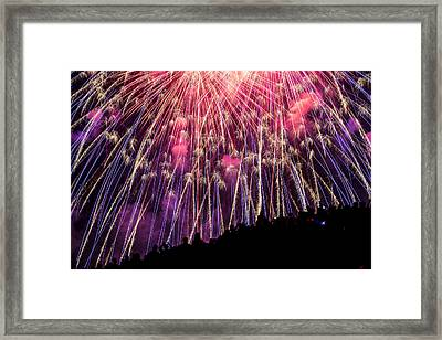 Colorful July 4th Framed Print