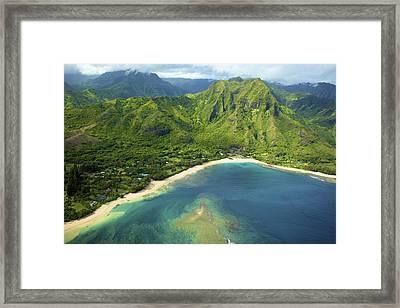 Colorful Kauai Coastline Framed Print by Kicka Witte