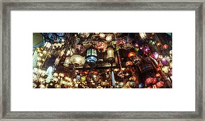 Colorful Lamps In The Grand Bazaar Framed Print