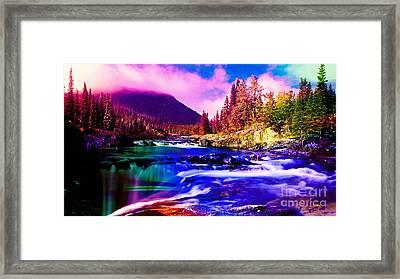 Colorful Landscape Framed Print by Marvin Blaine