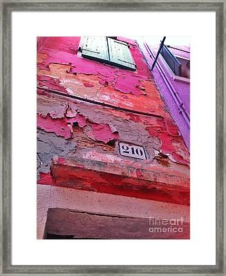 Colorful Layers  Framed Print
