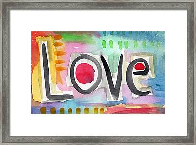 Colorful Love- Painting Framed Print by Linda Woods