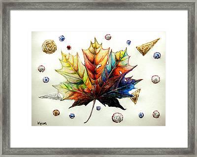 Colorful Maple Leaf Framed Print