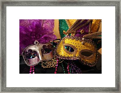 Colorful Mardi Gras Masks Framed Print