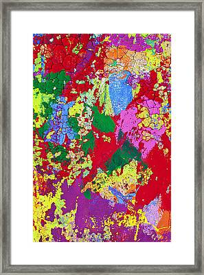 Colorful Messy Painted Wall Framed Print by Garry Gay
