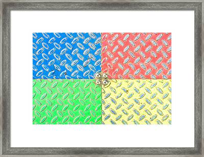 Colorful Metal Framed Print by Tom Gowanlock
