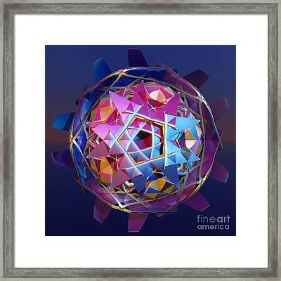 Colorful Metallic Orb Framed Print