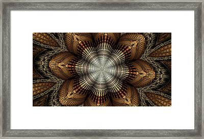 Colorful Metals Kaleidoscope Framed Print