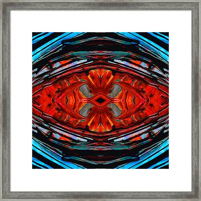 Colorful Modern Art - Desire's Call - By Sharon Cummings Framed Print by Sharon Cummings