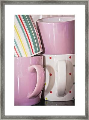 Colorful Mugs Framed Print