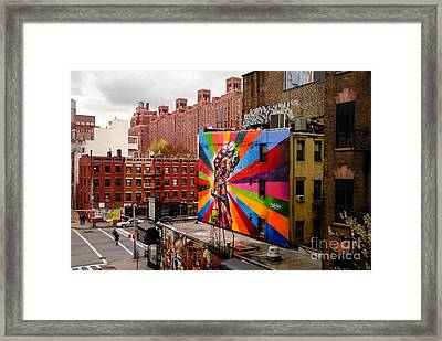 Colorful Mural Chelsea New York City Framed Print by Amy Cicconi