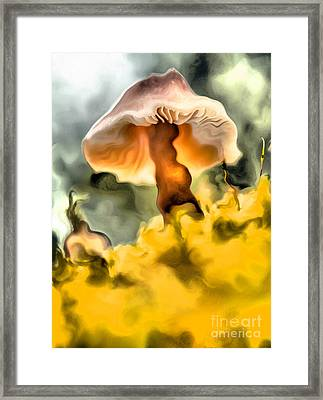 Colorful Mushroom Framed Print