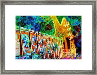 Colorful Music Digital Guitar Art By Steven Langston Framed Print by Steven Lebron Langston