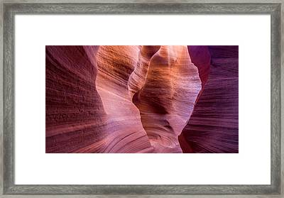 Colorful Navajo Sandstone Walls Framed Print by Pierre Leclerc Photography
