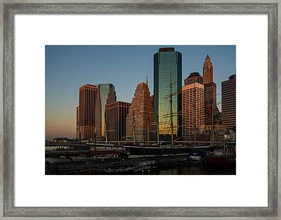 Framed Print featuring the photograph Colorful New York  by Georgia Mizuleva