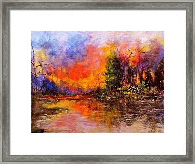Colorful Night.. Framed Print