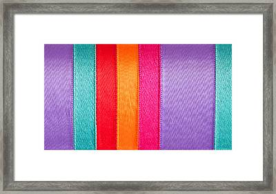 Colorful Nylon Framed Print by Tom Gowanlock