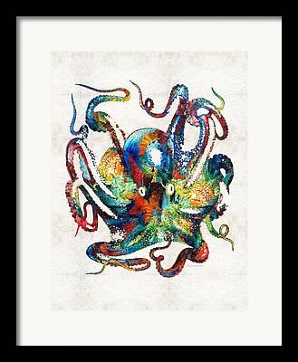 Tentacle Framed Prints