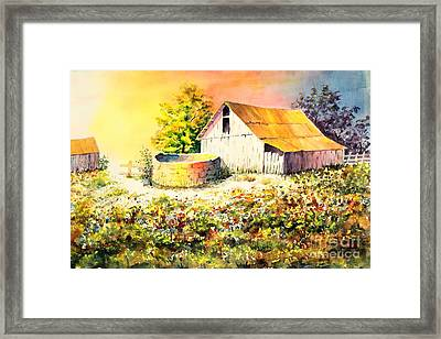 Colorful Old Barn Framed Print