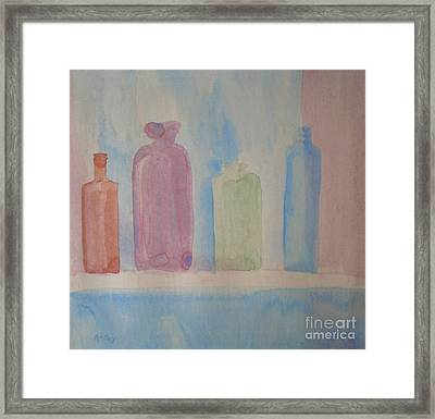 Framed Print featuring the painting Colorful Old Friends by Suzanne McKay