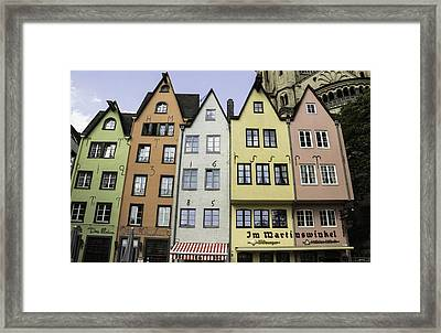 Colorful Old Townhouses Cologne Framed Print by Teresa Mucha