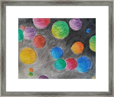 Colorful Orbs Framed Print by Thomasina Durkay