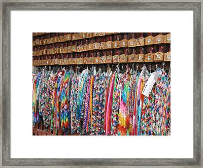 Colorful Origami Framed Print by Yumi Johnson